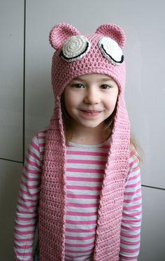 Crochet Pattern, baby bear hat crochet pattern, baby and toddler hat with ear warmer crochet #crochetpattern #crochet