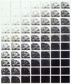 Camera Recording its Own Condition (7 Apertures, 10 Speeds, 2 Mirrors), 1971. John Hilliard.