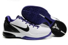 buy popular 78123 4539e Nike Zoom Kobe 6 (VI) shoes White Black Purple Cheap Jordan Shoes, Cheap