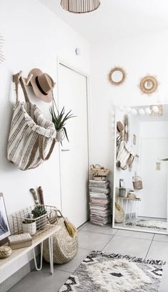 8 Certain Clever Hacks: Organic Home Decor Inspiration Color Schemes natural home decor rustic mirror.Natural Home Decor Inspiration natural home decor diy how to make.Natural Home Decor Modern Inspiration. Interior Design Inspiration, Home Decor Inspiration, Design Ideas, Interior Ideas, Travel Inspiration, Small Entrance, Small Entry, Entrance Ideas, Entryway Ideas