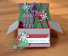 Holiday Home Card in a Box with Video by Chris Slogar - Cards and Paper Crafts at Splitcoaststampers