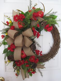 Spring Wreath Summer Wreath Kitchen Wreath Four by FunFlorals