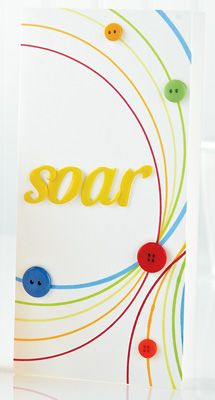 Soar Card by @Teri Anderson using plate as tracing template