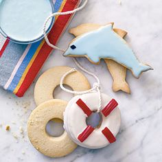 Coastal Cutout Cookies | MyRecipes.com  Great for a summer party or nautical themed shower