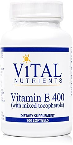 Vital Nutrients  Vitamin E 400 with Mixed Tocopherols  Potent Antioxidant Cardiovascular Support  100 Capsules * See this great product.