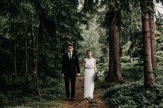Minimalist Forest Wedding in Prague | Photo by Couple of Prague