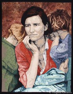 Worry - Virginia Greaves ... quilt taken from the famous Great Depression photograph