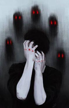 Mis pensamientos obstruyen mi cabeza dejando un espacio libre en ella dónde solo se conoce la soledad y la debilidad.
