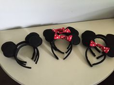 When I decided to have a Mickey Mouse party for my 2 year old's Birthday I knew that I wanted him to have ears. They're kinda a big deal when it comes to the mouse and all so I thought…