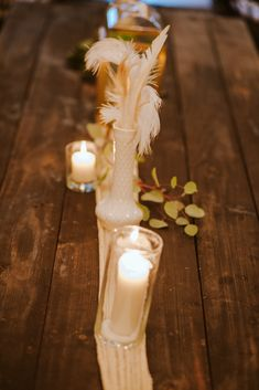 Cheesecloth Runner P. Cheesecloth, Clear Vases, Tree Lighting, White Vases, Twinkle Lights, Runners, Feathers, Knot, Wedding Venues