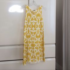"JCREW Collection JCREW yellow shift dress 100% cotton . Great condition. 36"" long J. Crew Dresses Midi"