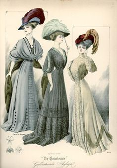 De Gracieuse, March 1908, Edwardian Fashion Plate.