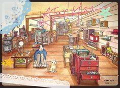Taiwan's bookstore#5 Illustration 2015 | AJar Hsu | 徐佳伶