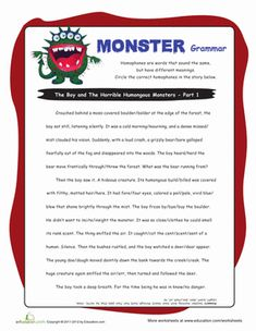 Monster Double Negatives #5 | Double negative, Worksheets and Articles
