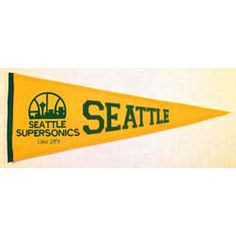 Seattle SuperSonics Traditions Pennant