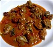 Tasty Chicken Liver Curry - Variation - Simply tempting - A very tasty liver curry cooked with masalas and tomatoes. You can do the Lamb Brain curry the same way. Chicken Liver Recipes, Onion Recipes, Curry Recipes, Indian Food Recipes, Duck Recipes, Chicken Marinades, Greek Recipes, Gizzards Recipe, Chicken Gizzards