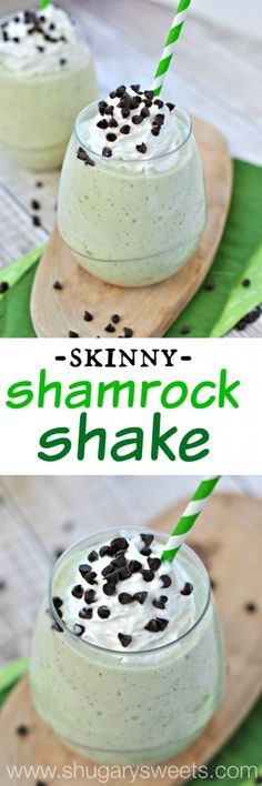 Skinny Shamrock Shake: made with frozen bananas, fat free milk, and mint! So easy and the perfect post workout treat! (Mcdonalds Chocolate Milkshake)