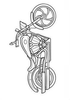 Harley-Davidson Road King. Harley Motorcycle coloring page