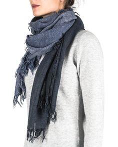 Kaschmir Schal dip-dye blau front Dip, Fashion, Cashmere, Scarves, Blue, Moda, Salsa, Fashion Styles, Fasion