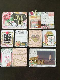Handmade pocket card set Handmade Project life by CodisCustomCards