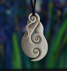 Large bone Whale Tail Fish hook  Hei Matau by JackieTump on Etsy, $255.00