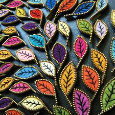 Getting ready to make some fab leaf brooches!! by woolly  fabulous, via Flickr