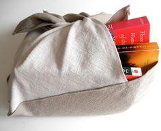 Large Linen Bento Bag Block Print Bento Bag Linen by JoeyMiller, $18.00