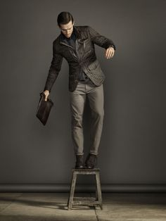 Massimo Dutti December Lookbook for Men. Fall Winter 2013 Collection.