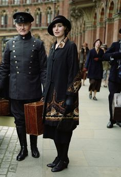 Edith arrives at King's Cross station in London, to be greeted to her surprise, by Michael Gregson. February 1922.