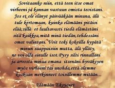 Finnish Words, Wise Words, Wisdom, Type 3, Quotes, Facebook, People, Quotations, Word Of Wisdom