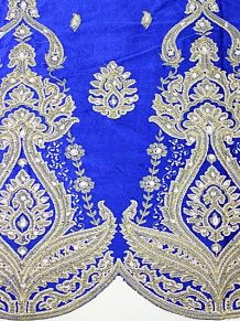 Empire Textiles African Georges - Velvet George RBL - Royal Blue PRICE - £80.00