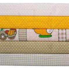 Kit Tecido Patchwork (30x55) 5 Estampas - Carrinhos