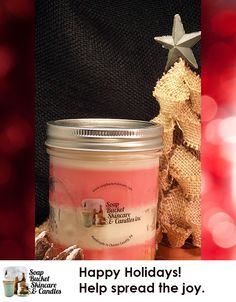 Our Peppermint Stick Christmas Candle brings the holiday fun right to you home! Our Candles range from a modest $4.50 to an ENORMOUS $125.00 See our wwebsite for details. Special Sale till December 5th 25% off #BlackFriday #SmallBusinessSaturday #CyberMonday www.soapbucketskincare.com