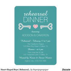 Heart-Shaped Keys | Rehearsal Dinner