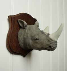 Rhinoceros!- Large Mounted Animal Head by Great & Small