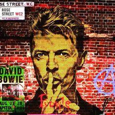 Love this David Bowie street art. 2 of my fav things!!