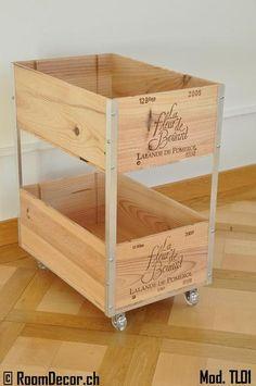 Trolley aus Weinkisten, Mod. TL01 | Ansalia.ch