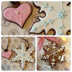 Christmas iced cookies