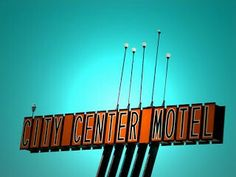 """City Center Motel"" - American Graphic 50s/60s Neon Signs."