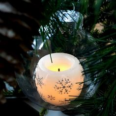 3 DIY Ornaments with Candle Impressions Flameless LED Candles