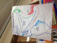 This map that the teacher from my 5th Grade class made does an excellent job of giving a visual look at what the Triangle Trade actually looked like. This poster also contains elements from the NYS 5th Grade Social Studies Standards: Showing maps of events such as this, the Triangle Trade.