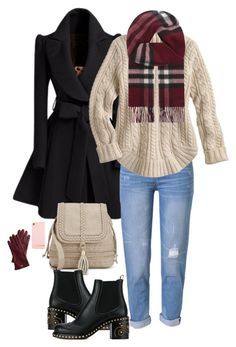 """""""This is pretty simple"""" by kiara-tuggle ❤ liked on Polyvore featuring WithChic, Miu Miu, Richmond & Finch, Burberry and Mark & Graham"""