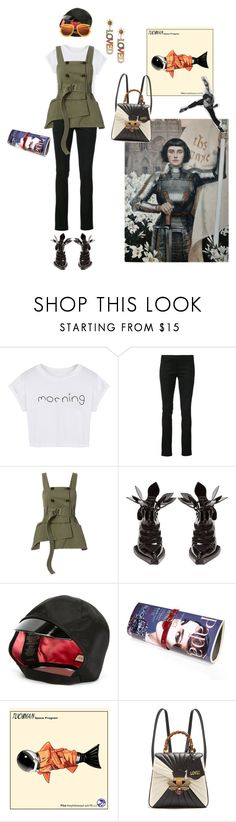 """pilot's armor"" by ladyarchitect ❤ liked on Polyvore featuring WithChic, Monse, Marissa Webb, Blue Roses, Gucci, Papà Razzi, Fall, vest and ladyarchitect"
