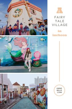 This Fairy Tale Village in Incheon, also known as Songwol-dong Fairy Tale Village, is perfect for kids, families, teens and even kid… Story Books, Heart For Kids, Incheon, Murals, Fairy Tales, Families, Films, Places To Visit, Teen