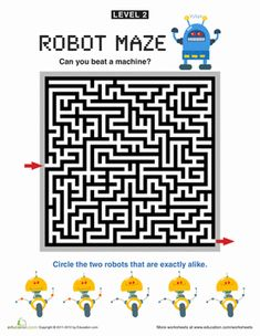 Practice your persistence with these increasingly perplexing puzzles. Can you beat the machine? Printable Puzzles, Crossword Puzzles, Maze Worksheet, Worksheets, Offline Games, Mazes For Kids, Secret Code, Coding, Education