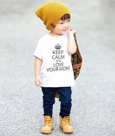 Image may contain: 1 person, standing, shoes and child Cool Girl Outfits, Toddler Boy Outfits, Cute Fall Outfits, Cute Outfits For Kids, Toddler Boys, Cute Kids Fashion, Baby Boy Fashion, Toddler Fashion, Little Boy Swag