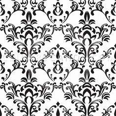 Simple Free Black and White Damask Tiling Pattern – Clip Art Candy Royalty Free Vector Cartoons and Characters