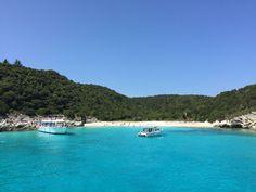 Blue waters in #Corfu!