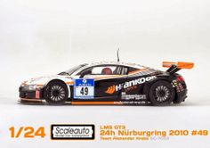 Slot cars, Scaleauto 1/24 Audi R8 LMS GT3 SC-7053, 'Team Alexander Krebs', 24 hours of Nürburgring 2010 - See more at: http://manicslots.blogspot.com.au/2014/03/news-scaleauto-audi-r8-lms-gt3-sc-7053.html#sthash.X5uIqknY.dpuf