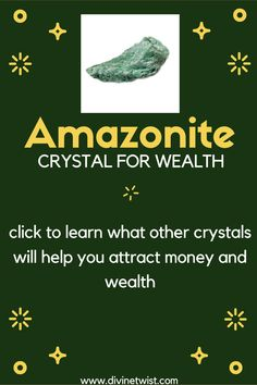 Amazonite will help you attract money and wealth. Click to learn what other stones will bring abundance and wealth into your life. #crystals Crystals For Wealth, Stones And Crystals, Masculine Energy, 5 Elements, Lucky Stone, Attract Money, Financial Success, Willpower, New Opportunities